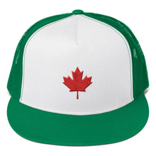 Load image into Gallery viewer, Canada Flag Maple Leaf Red 3D Puff, Trucker Cap