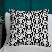 Load image into Gallery viewer, French Bulldog Face Premium Pillow 22x22