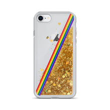 Load image into Gallery viewer, Pride Rainbow Flag Colors 3, Liquid Glitter Phone Case