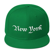 Load image into Gallery viewer, New York Text 3D Puff, Wool Blend Snapback Hat