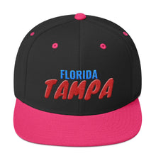 Load image into Gallery viewer, Tampa Florida Text 3D Puff, Snapback Hat