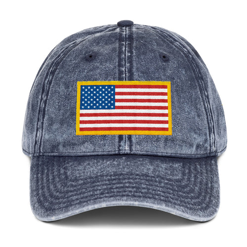 Us Flag, Vintage Cotton Twill Dad Hat