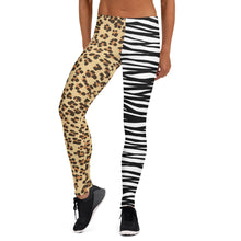 Load image into Gallery viewer, Leopard and Zebra, Women's Leggings