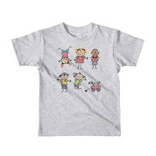 Load image into Gallery viewer, Kids Life Cartoon Style, Kids Fine Jersey Short Sleeve T-Shirt