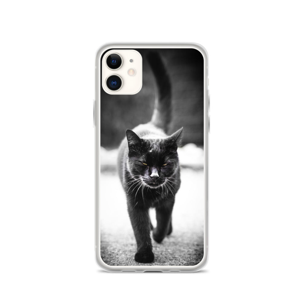 Black Cat, iPhone Case