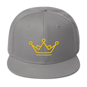 Crown Gold 3D Puff, Classic Snapback Hat