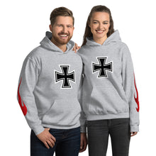 Load image into Gallery viewer, Maltese Cross Flames, Unisex Hoodie