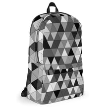 Load image into Gallery viewer, Grayscale Triangle Pattern, Backpack