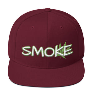 Smoke Cannabis Leaf 3D Puff, Snapback Hat