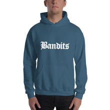 Load image into Gallery viewer, Bandits 3 Text White, Men's Hooded Sweatshirt
