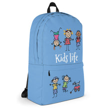 Load image into Gallery viewer, Kids Life Cartoon Style, Backpack Light Blue