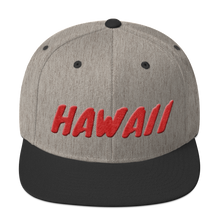 Load image into Gallery viewer, Hawaii Text Red 3D Puff, Snapback Hat
