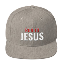 Load image into Gallery viewer, Run To Jesus Religious Text 3D Puff, Snapback Hat