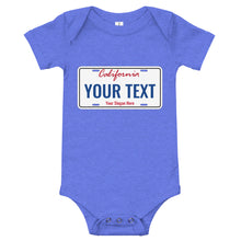 Load image into Gallery viewer, Design Your Own California State License Plate, Baby Bodysuit
