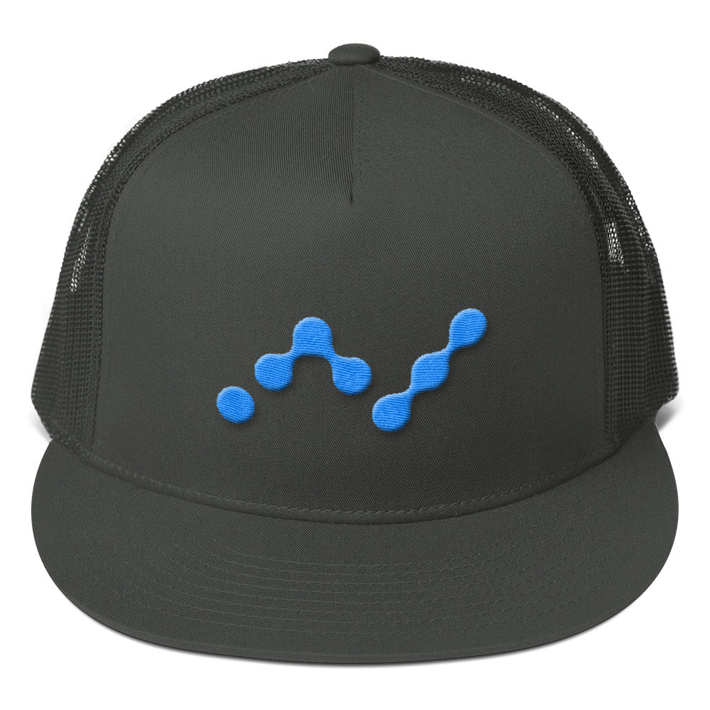 Nano Currency Logo, Flat Visor Mesh Back Snapback Hat