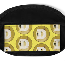 Load image into Gallery viewer, Dogecoin Logo Pattern Yellow, Classic Fanny Pack