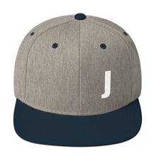 Load image into Gallery viewer, Alphabet Letter J, Snapback Hat
