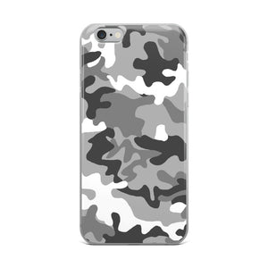 Camouflage Pattern Gray Print, iPhone 6-XS/max Case