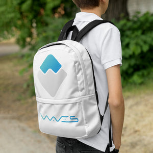 Waves Cryptocurrency Logo, Backpack