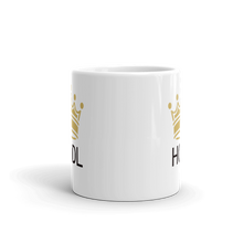 Load image into Gallery viewer, HODL Crypto Currency Adage Text With Crown, White Glossy Coffee Mug
