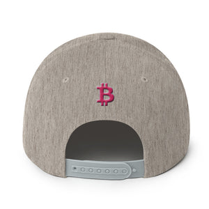 Bitcoin BTC Cryptocurrency Hot Pink, Snapback Hat