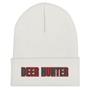 Deer Hunter Text, Unisex Cuffed Beanie