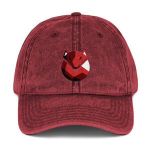 Fox Logo, Vintage Cotton Dad Hat