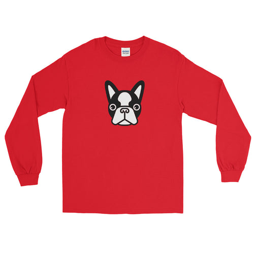 French Bulldog Face Unisex Long Sleeve Shirt