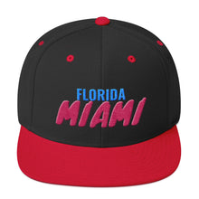 Load image into Gallery viewer, Miami Florida Text Partial 3D  Puff, Snapback Hat