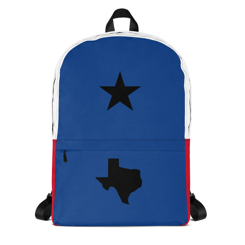 Black Texas Star and Map, Backpack Multicolor