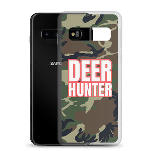 Deer Hunter Text White, Samsung Galaxy S8-S10+ Case