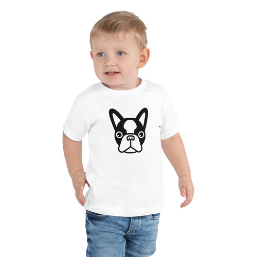 French Bulldog Face Toddler T-shirt