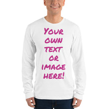 Load image into Gallery viewer, Design Your Own, Unisex Fine Jersey Long Sleeve T-Shirt (4 colors)