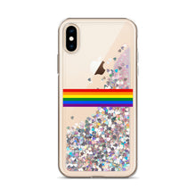 Load image into Gallery viewer, Rainbow Flag Colors, Liquid Glitter Phone Case