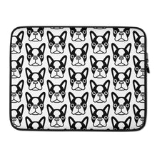 Load image into Gallery viewer, French Bulldog Face Laptop Sleeve 15 inch