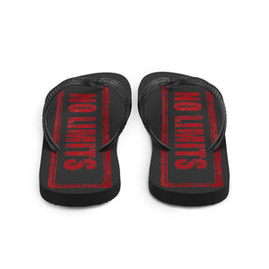 No Limits Sign Red, Unisex Flip-Flops