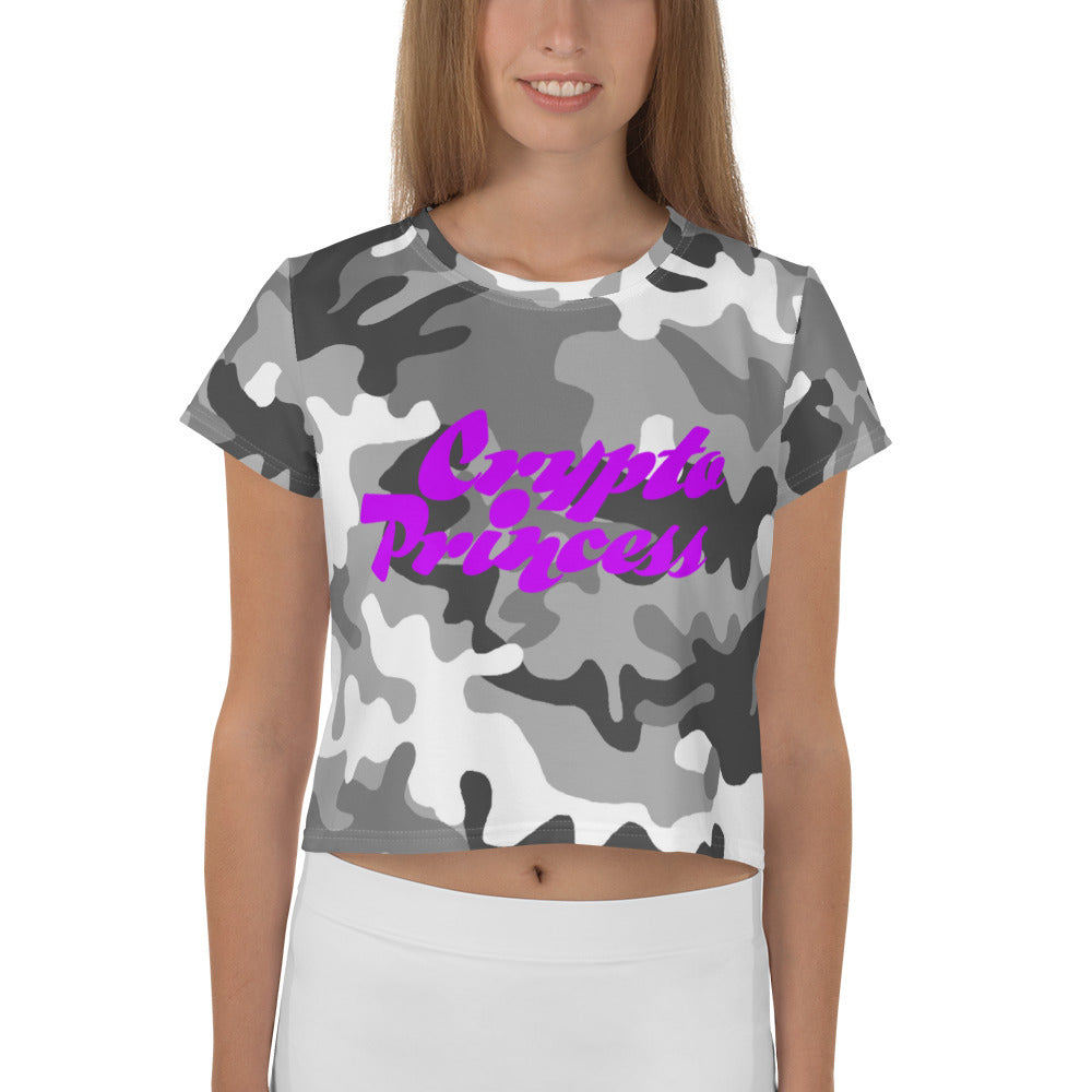 Crypto Princess, Crop Tee Camouflage