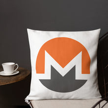Load image into Gallery viewer, Monero Cryptocurrency Logo, Premium Throw Pillow