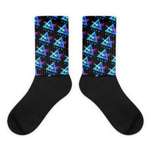 Load image into Gallery viewer, Beam Cryptocurrency Logo Pattern, Unisex Socks Black