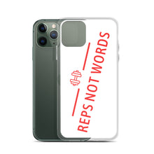 Load image into Gallery viewer, Reps Not Words, iPhone Case White