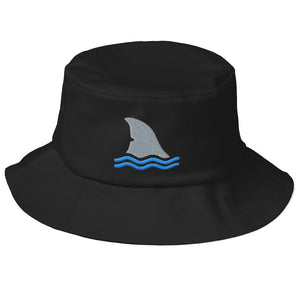 Shark Fin Embroidered Bucket Hat