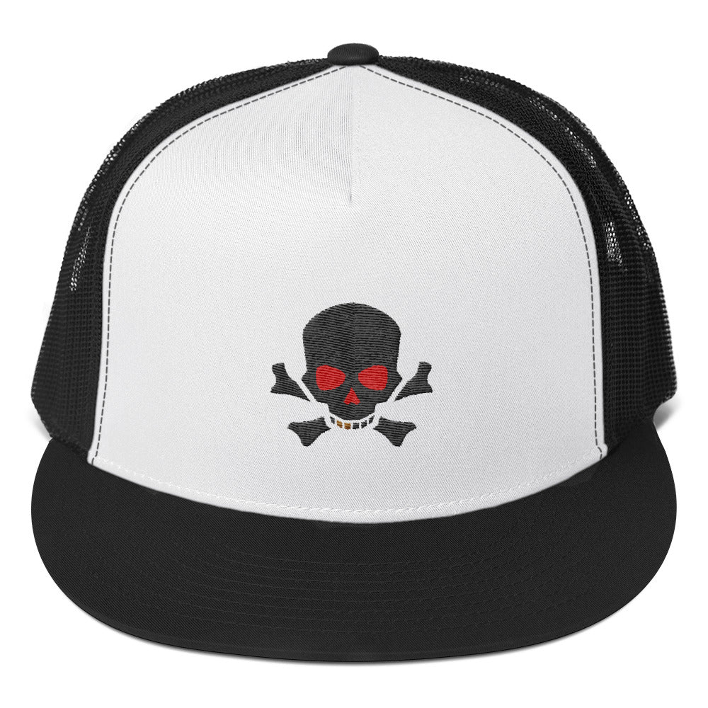 Red Eye Skull and Bones, Trucker Cap