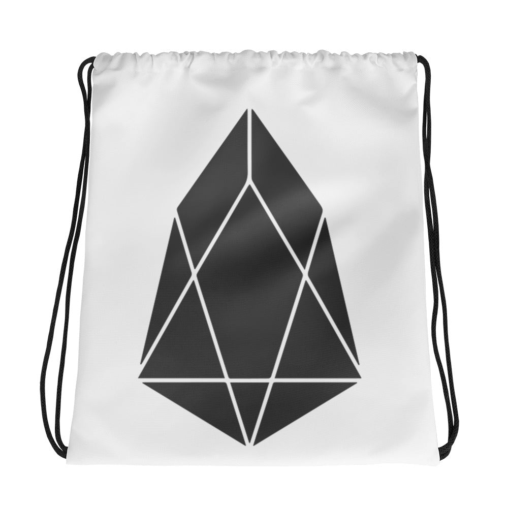 EOS Crypto Currency Logo, Drawstring Bag