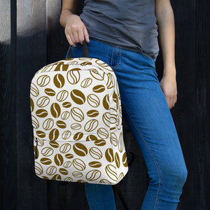 Coffee Beans Print, Backpack