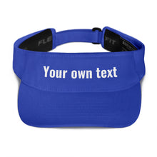 Load image into Gallery viewer, Design Your Own Custom Text, Embroidered Visor
