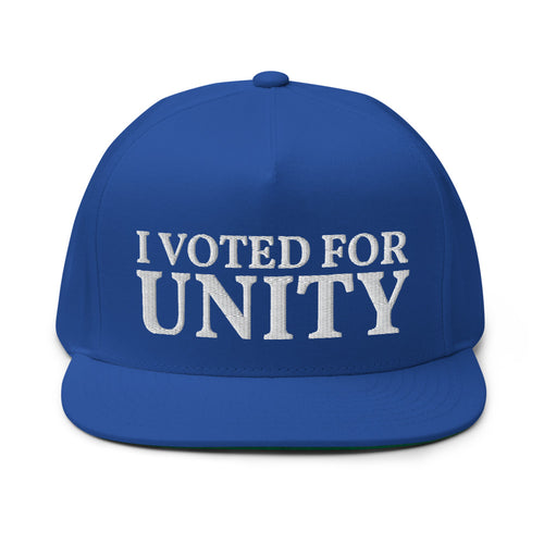 I Voted For Unity Embroidered Flat Bill Cap