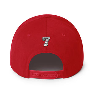 Number 7 Font 2 Partial 3D puff, Snapback Hat