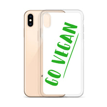 Load image into Gallery viewer, Go Vegan Text Green, iPhone Case