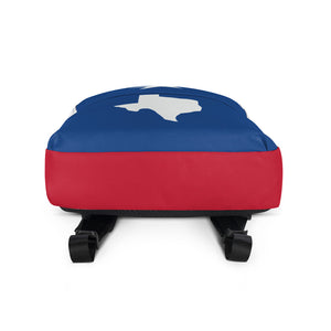 White Texas Lone Star and Map, Backpack Multicolor