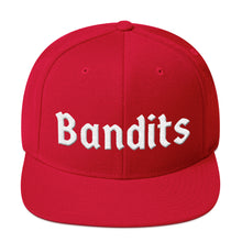 Load image into Gallery viewer, Bandits Text White 3D Puff, Snapback Hat